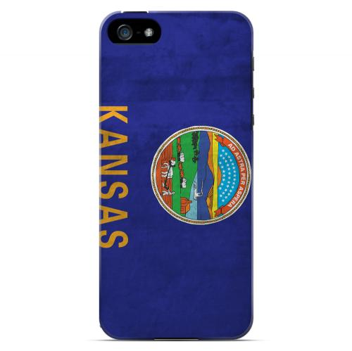 Grunge Kansas - Geeks Designer Line Flag Series Hard Case for Apple iPhone 5/5S