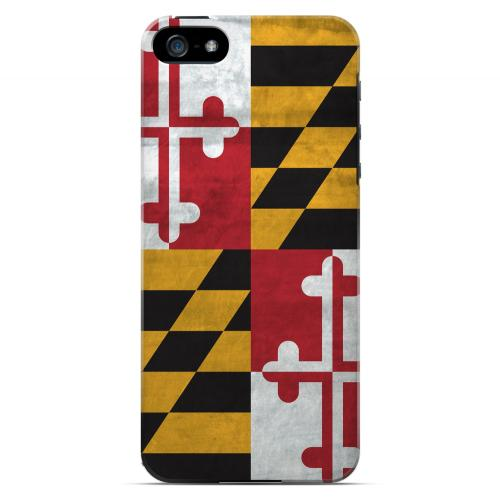 Grunge Maryland - Geeks Designer Line Flag Series Hard Case for Apple iPhone 5/5S