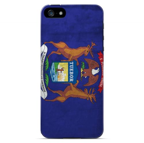 Grunge Michigan - Geeks Designer Line Flag Series Hard Case for Apple iPhone 5/5S