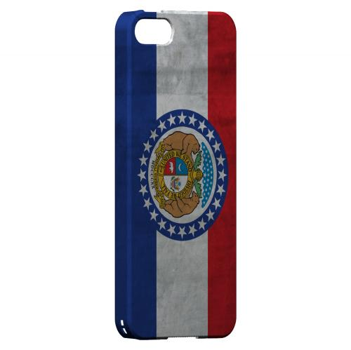 Grunge Missouri - Geeks Designer Line Flag Series Hard Case for Apple iPhone 5/5S
