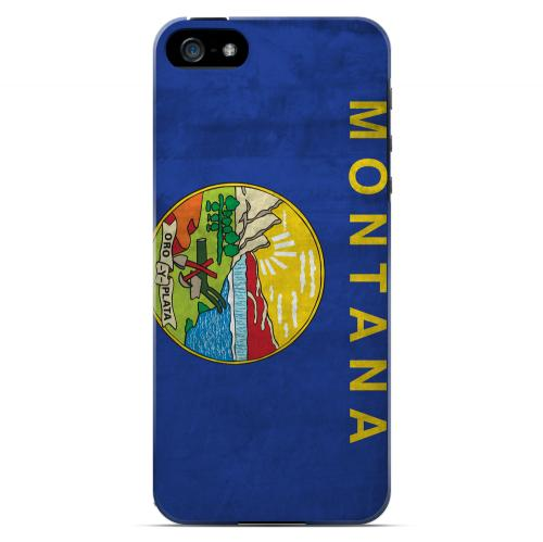 Grunge Montana - Geeks Designer Line Flag Series Hard Case for Apple iPhone 5/5S