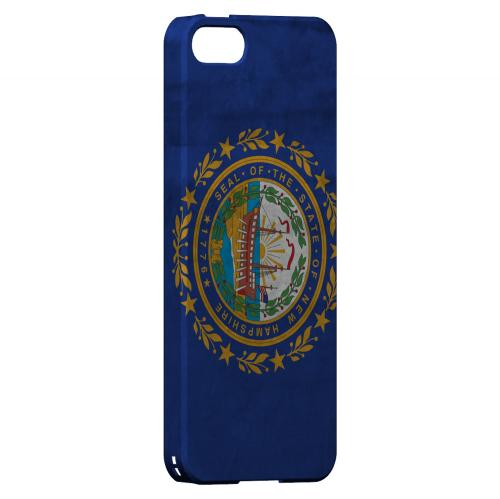 Grunge New Hampshire - Geeks Designer Line Flag Series Hard Case for Apple iPhone 5/5S