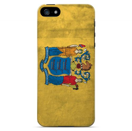 Grunge New Jersey - Geeks Designer Line Flag Series Hard Case for Apple iPhone 5/5S