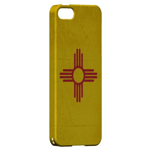 Grunge New Mexico - Geeks Designer Line Flag Series Hard Case for Apple iPhone 5/5S