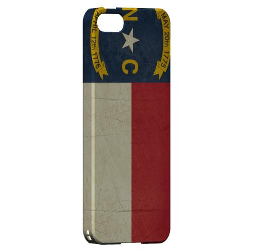 Grunge North Carolina - Geeks Designer Line Flag Series Hard Case for Apple iPhone 5/5S