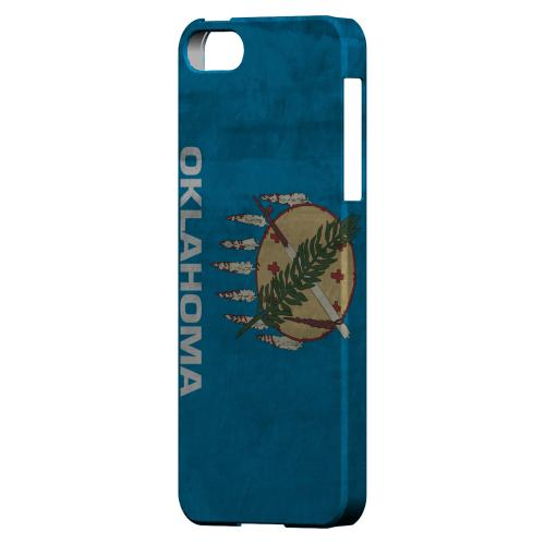 Grunge Oklahoma - Geeks Designer Line Flag Series Hard Case for Apple iPhone 5/5S