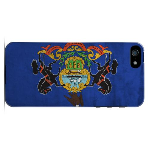Grunge Pennsylvania - Geeks Designer Line Flag Series Hard Case for Apple iPhone 5/5S