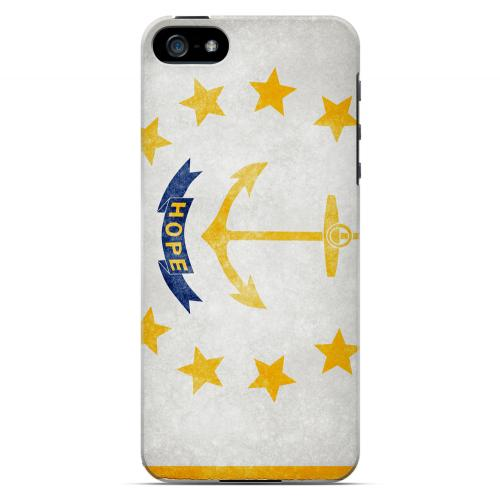 Grunge Rhode Island - Geeks Designer Line Flag Series Hard Case for Apple iPhone 5/5S