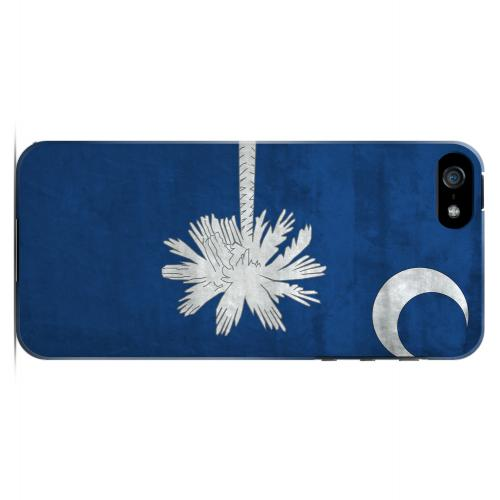 Grunge South Carolina - Geeks Designer Line Flag Series Hard Case for Apple iPhone 5/5S