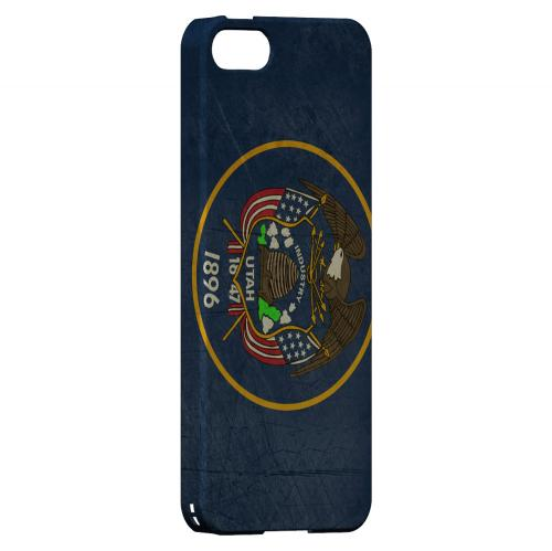 Grunge Utah - Geeks Designer Line Flag Series Hard Case for Apple iPhone 5/5S