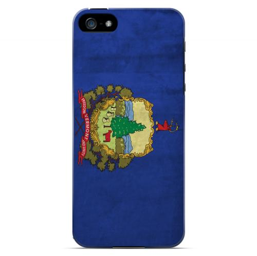 Grunge Vermont - Geeks Designer Line Flag Series Hard Case for Apple iPhone 5/5S