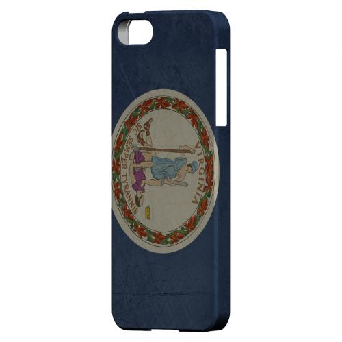 Grunge Virginia - Geeks Designer Line Flag Series Hard Case for Apple iPhone 5/5S