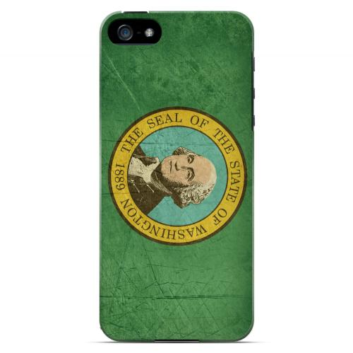 Grunge Washington - Geeks Designer Line Flag Series Hard Case for Apple iPhone 5/5S