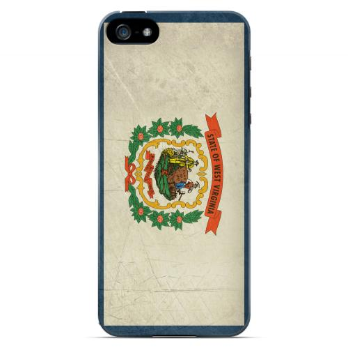 Grunge West Virginia - Geeks Designer Line Flag Series Hard Case for Apple iPhone 5/5S