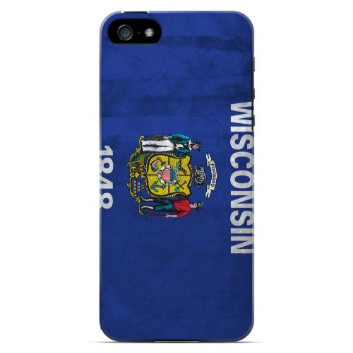 Grunge Wisconsin - Geeks Designer Line Flag Series Hard Case for Apple iPhone 5/5S