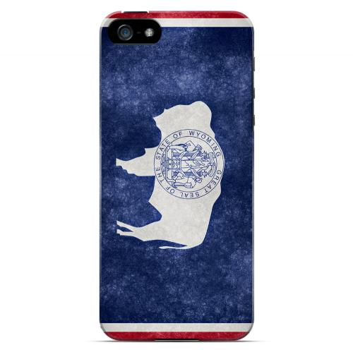 Grunge Wyoming - Geeks Designer Line Flag Series Hard Case for Apple iPhone 5/5S