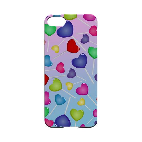 Assorted Heart Lollipops Geeks Designer Line Candy Series Slim Hard Back Cover for Apple iPhone 5/5S
