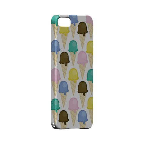 Assorted Ice Cream Cones Geeks Designer Line Candy Series Slim Hard Back Cover for Apple iPhone 5/5S