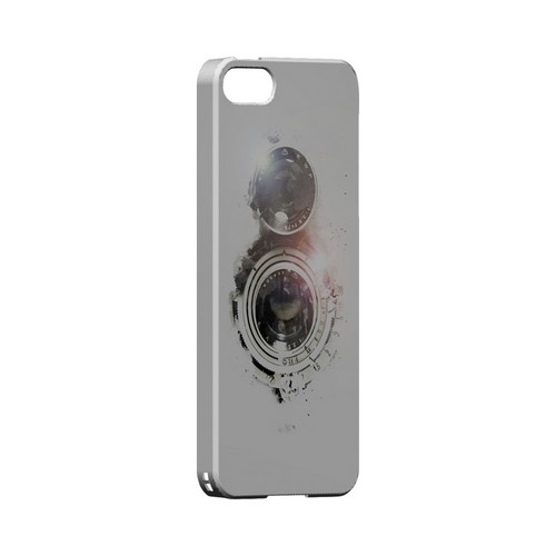 White Lens Flare - Geeks Designer Line (GDL) Retro Series Hard Back Cover for Apple iPhone 5/5S