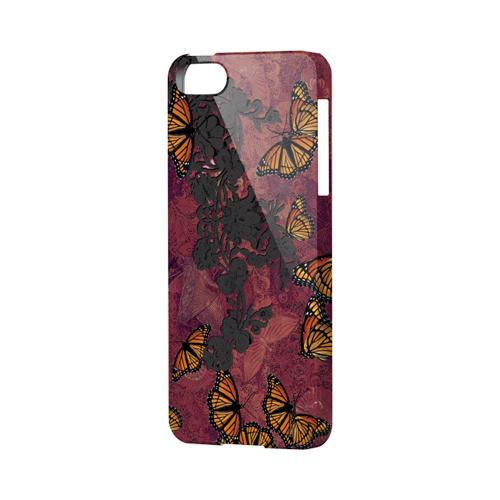 Butterflies on Parade Impact Resistant Geeks Designer Line Asian Print Series Hard Case for Apple iPhone 5/5S