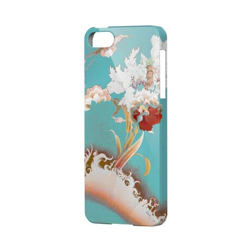 Flower Wave Impact Resistant Geeks Designer Line Asian Print Series Hard Case for Apple iPhone 5/5S