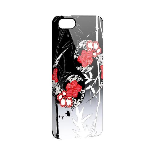 Bamboo Yin Yang Impact Resistant Geeks Designer Line Asian Print Series Hard Case for Apple iPhone 5/5S