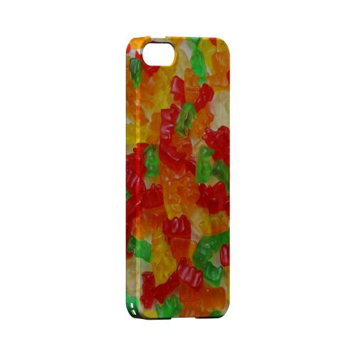 Multi-Colored Gummy Bears Geeks Designer Line Candy Series Slim Hard Back Cover for Apple iPhone 5/5S