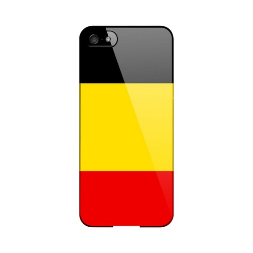 Belgium Geeks Designer Line Flag Series Slim Hard Case for Apple iPhone 5/5S