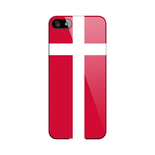 Denmark Geeks Designer Line Flag Series Slim Hard Case for Apple iPhone 5/5S