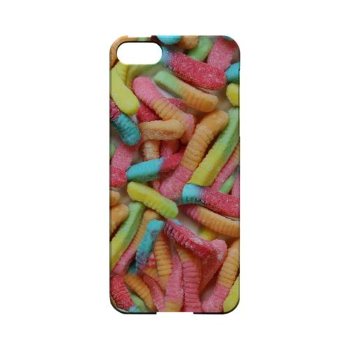 Multi-Colored Gummy Worms Geeks Designer Line Candy Series Slim Hard Back Cover for Apple iPhone 5/5S