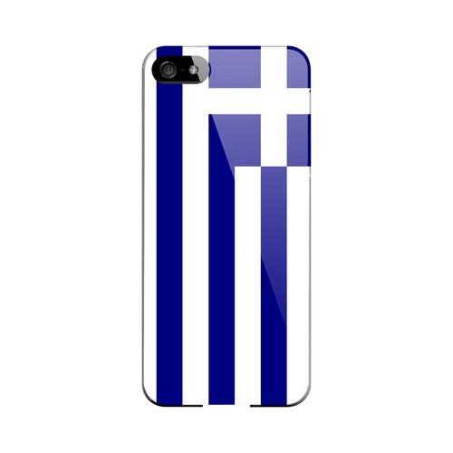Greece Geeks Designer Line Flag Series Slim Hard Case for Apple iPhone 5/5S