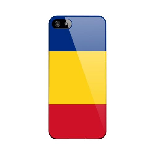 Romania Geeks Designer Line Flag Series Slim Hard Case for Apple iPhone 5