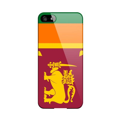 Sri Lanka Geeks Designer Line Flag Series Slim Hard Case for Apple iPhone 5/5S