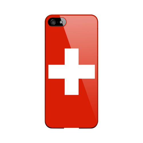 Switzerland Geeks Designer Line Flag Series Slim Hard Case for Apple iPhone 5/5S
