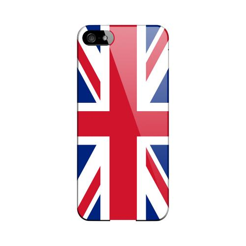 United Kingdom Geeks Designer Line Flag Series Slim Hard Case for Apple iPhone 5/5S