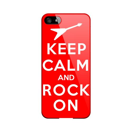 Red Rock On Geeks Designer Line Keep Calm Series Slim Hard Case for Apple iPhone 5/5S