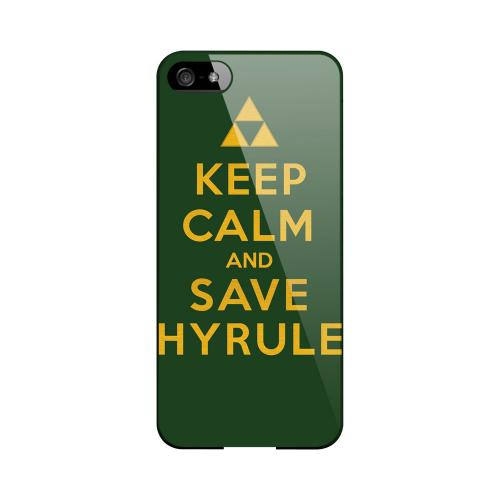 Green Save Hyrule Geeks Designer Line Keep Calm Series Slim Hard Case for Apple iPhone 5/5S