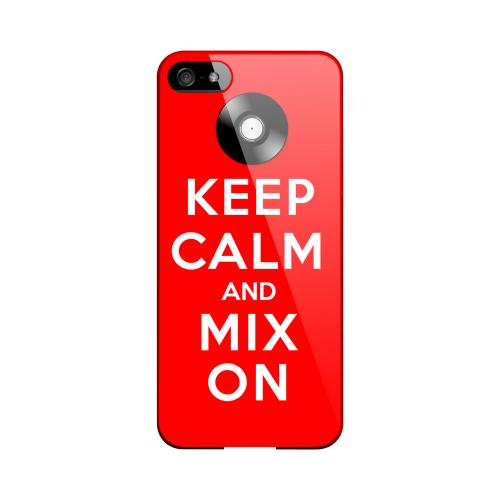 Red Mix On Geeks Designer Line Keep Calm Series Slim Hard Case for Apple iPhone 5/5S