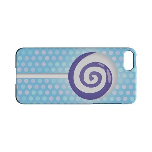 Purple Lollipop Geeks Designer Line Candy Series Slim Hard Back Cover for Apple iPhone 5/5S