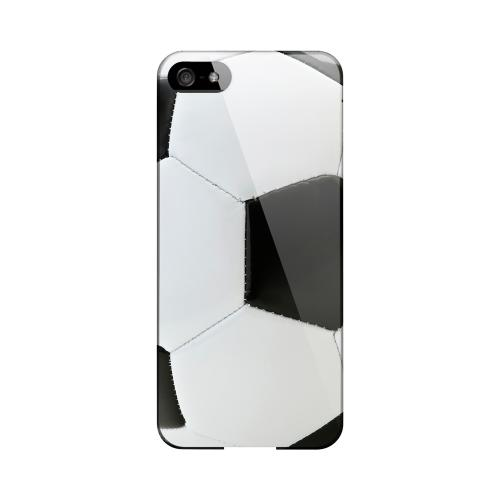Soccer Ball Geeks Designer Line Sports Series Slim Hard Case for Apple iPhone 5/5S