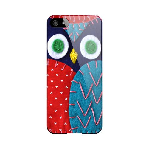 Dark Blue/ Red Owl Geeks Designer Line Sports Series Slim Hard Case for Apple iPhone 5/5S