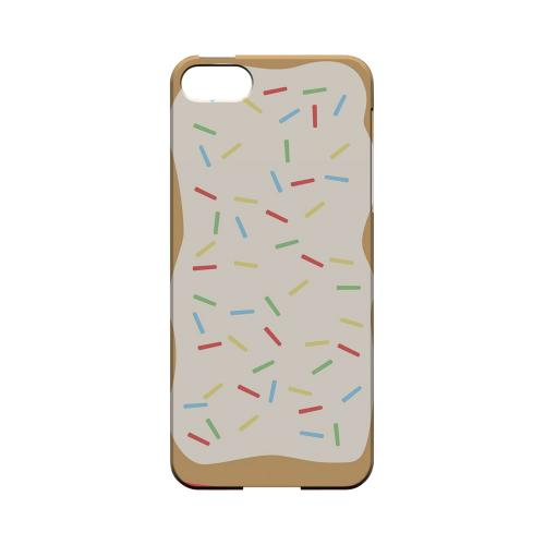 Toaster Pastry w/Sprinkles Geeks Designer Line Candy Series Slim Hard Back Cover for Apple iPhone 5/5S