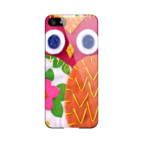 Hot Pink/ Green Owl Geek Nation Program Exclusive Jodie Rackley Series Hard Case for Apple iPhone 5/5S