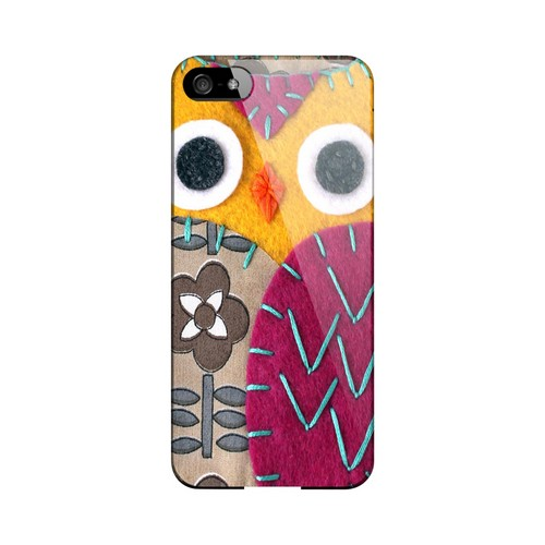 Yellow/ Purple Owl Geek Nation Program Exclusive Jodie Rackley Series Hard Case for Apple iPhone 5/5S