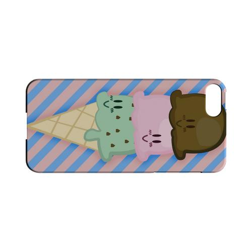 Triple Scoop Ice Cream Cone Geeks Designer Line Candy Series Slim Hard Back Cover for Apple iPhone 5/5S