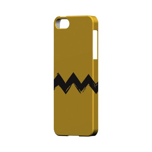 Yellow Good Grief! Geeks Designer Line Zig Zag Series Slim Hard Case for Apple iPhone 5/5S