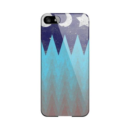 Sun Moon Star Geeks Designer Line Zig Zag Series Slim Hard Case for Apple iPhone 5/5S