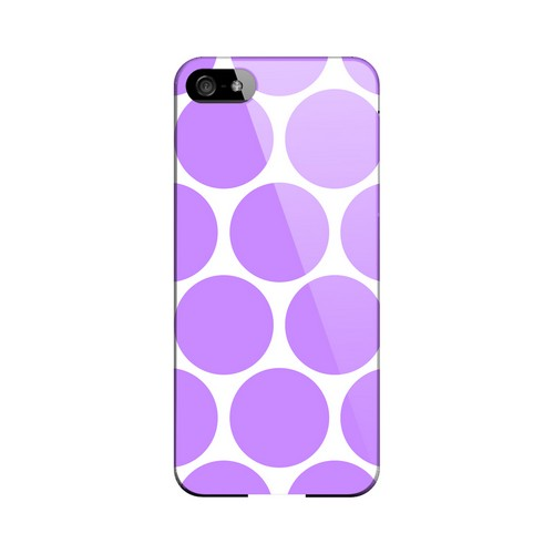 Big & Purple Geeks Designer Line Polka Dot Series Slim Hard Case for Apple iPhone 5/5S
