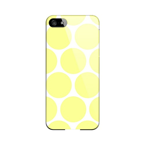 Big & Yellow Geeks Designer Line Polka Dot Series Slim Hard Case for Apple iPhone 5/5S