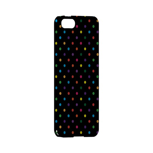 Small & Rainbow on Black Geeks Designer Line Polka Dot Series Slim Hard Case for Apple iPhone 5/5S